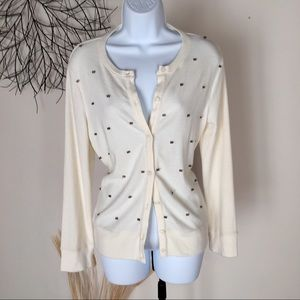 Cream button down cardigan by DYLAN. NWT